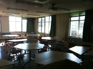 Classroom with group desks